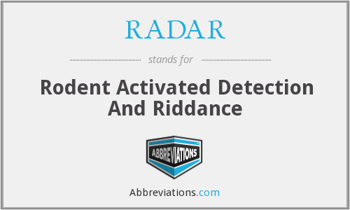 RADAR - Rodent Activated Detection And Riddance