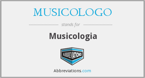 What does MUSICOLOGO stand for?