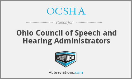 OCSHA - Ohio Council of Speech and Hearing Administrators