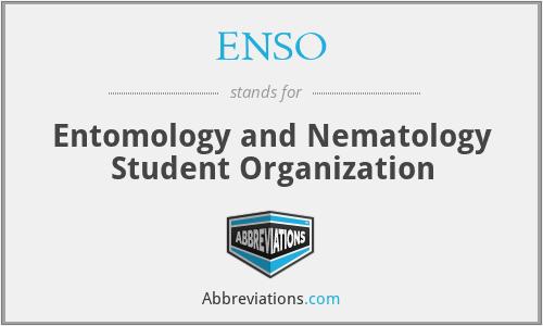 ENSO - Entomology and Nematology Student Organization