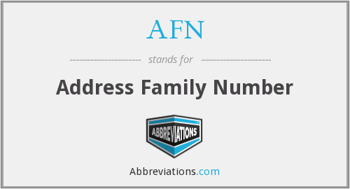 AFN - Address Family Number