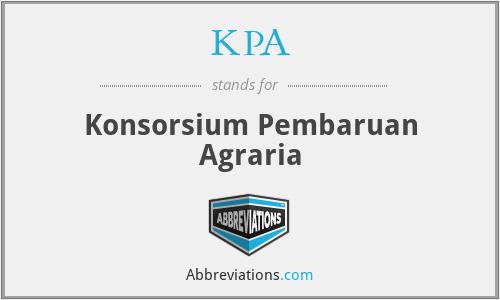 KPA - Konsorsium Pembaruan Agraria