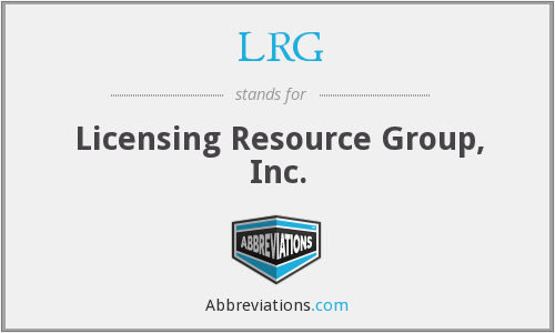 LRG - Licensing Resource Group, Inc.