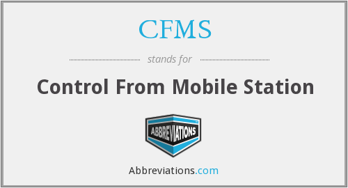CFMS - Control From Mobile Station