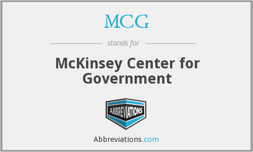 MCG - McKinsey Center for Government