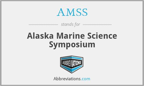 AMSS - Alaska Marine Science Symposium