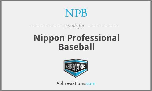 NPB - Nippon Professional Baseball