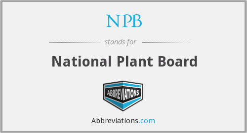 NPB - National Plant Board