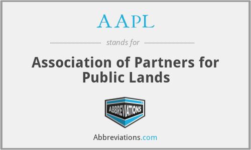 AAPL - Association of Partners for Public Lands