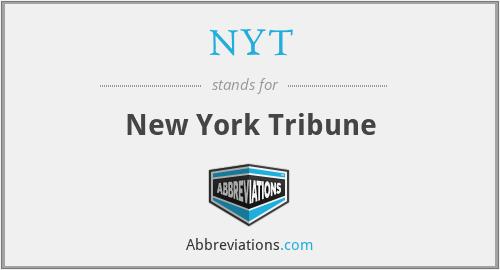 NYT - New York Tribune