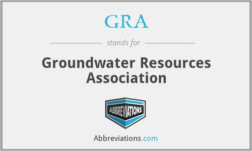 GRA - Groundwater Resources Association