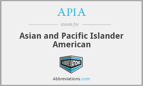 APIA - Asian and Pacific Islander American