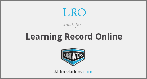LRO - Learning Record Online
