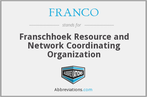 FRANCO - Franschhoek Resource and Network Coordinating Organization