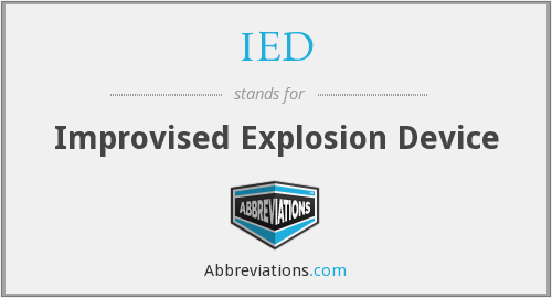 IED - Improvised Explosion Device