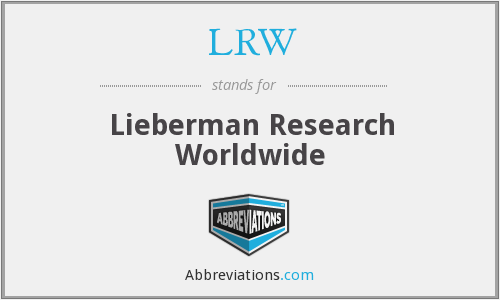 What does LRW stand for?