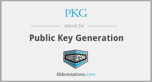 PKG - Public Key Generation