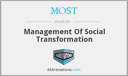 MOST - Management Of Social Transformation