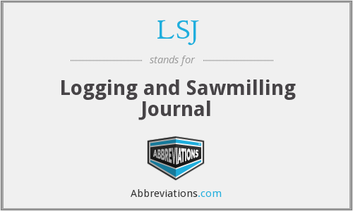 LSJ - Logging and Sawmilling Journal