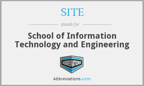 SITE - School of Information Technology and Engineering
