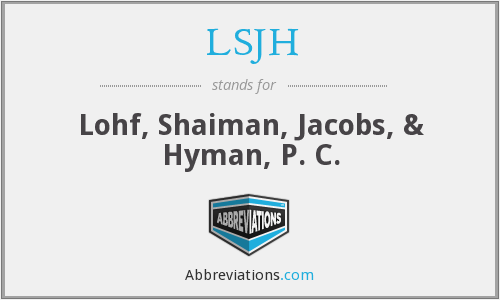 What does LSJH stand for?