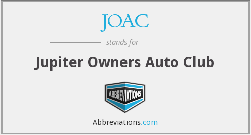 JOAC - Jupiter Owners Auto Club