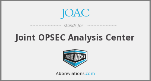 JOAC - Joint OPSEC Analysis Center