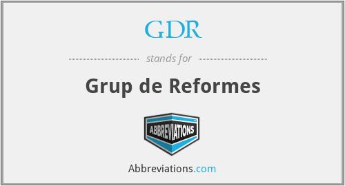 GDR - Grup de Reformes