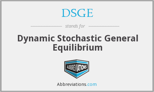 What does DSGE stand for?