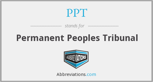 PPT - Permanent Peoples Tribunal