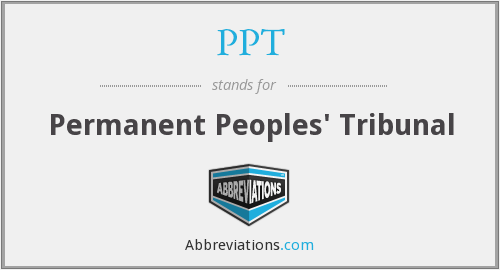 PPT - Permanent Peoples' Tribunal