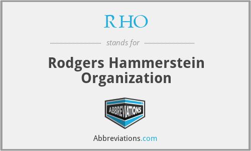 RHO - Rodgers Hammerstein Organization