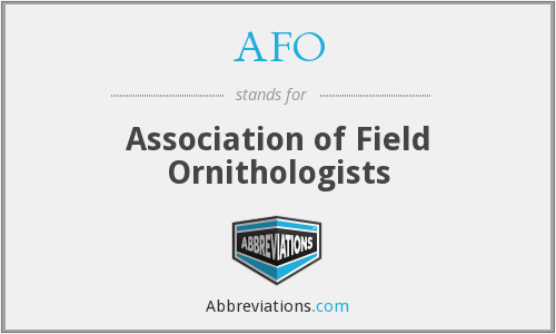 AFO - Association of Field Ornithologists