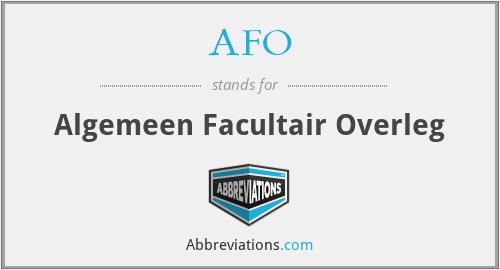 AFO - Algemeen Facultair Overleg