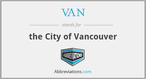 VAN - the City of Vancouver