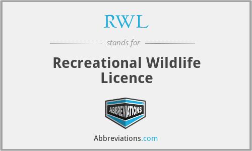 RWL - Recreational Wildlife Licence