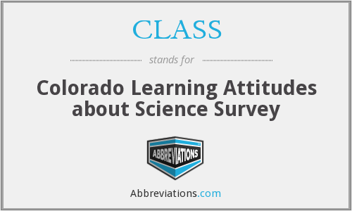 CLASS - Colorado Learning Attitudes about Science Survey