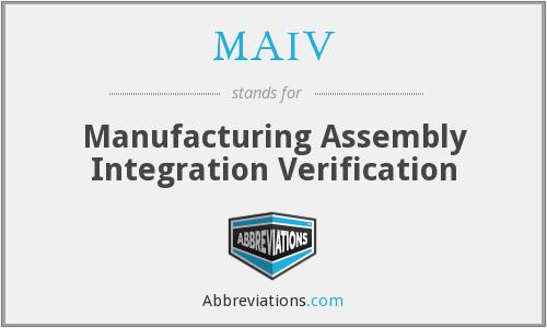 What does MAIV stand for?
