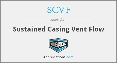 SCVF - Sustained Casing Vent Flow