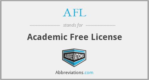 AFL - Academic Free License
