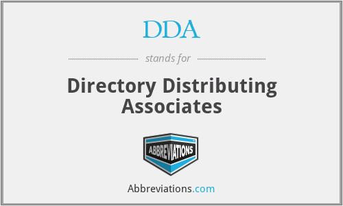 DDA - Directory Distributing Associates
