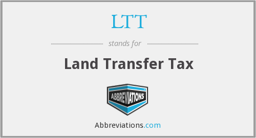LTT - Land Transfer Tax