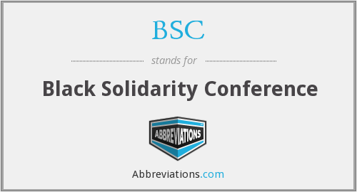 BSC - Black Solidarity Conference