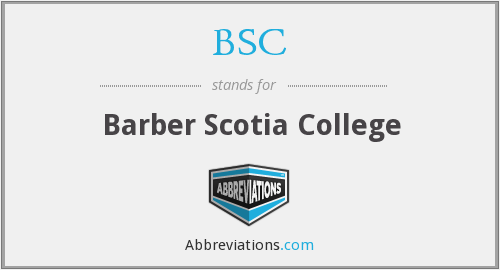 BSC - Barber Scotia College