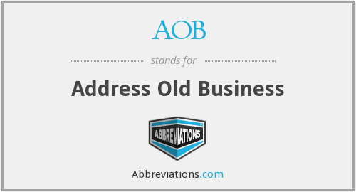 AOB - Address Old Business