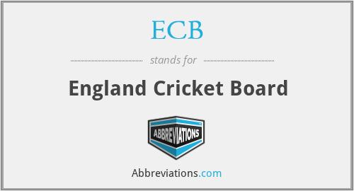 ECB - England Cricket Board