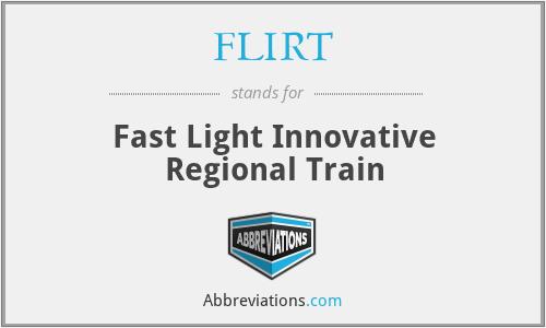 FLIRT - Fast Light Innovative Regional Train