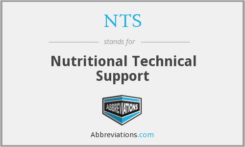 NTS - Nutritional Technical Support