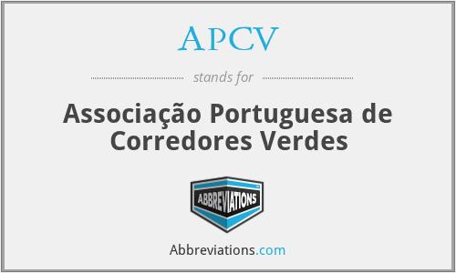 APCV - Associação Portuguesa de Corredores Verdes