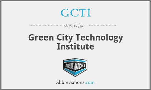 GCTI - Green City Technology Institute